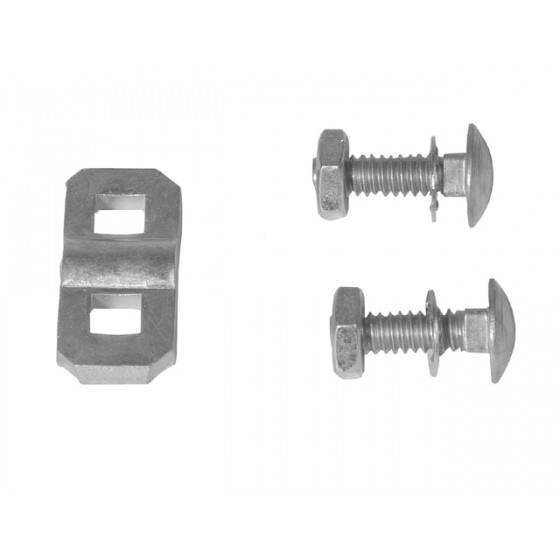 Trailer winch cable fixing set