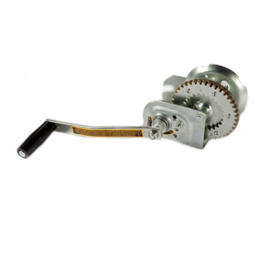 Trailer winch with load brake, steel wire