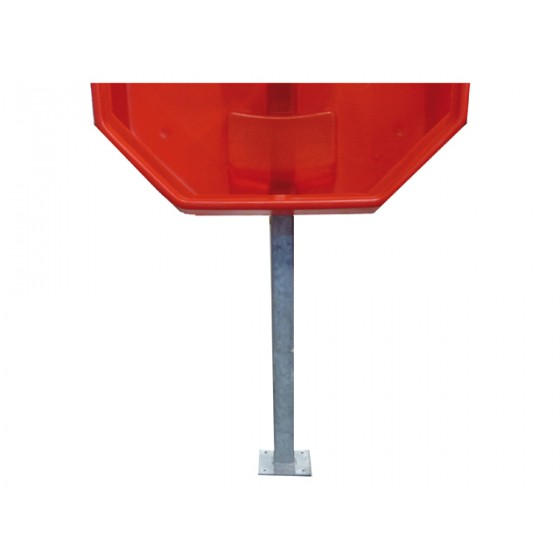 Steel pole (with footing) for life buoy cabinet
