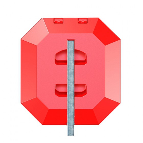 Steel pole (no footing) for life buoy cabinet