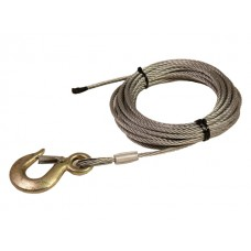 Steel cable with hook and clack