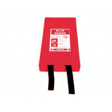 Fire blanket with hard plastic wall holder (180x180)