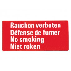 Niet Roken (in 4 talen), sticker