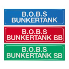 B.O.B.S. Storage tank stickers