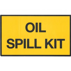 Oil spill kit, sticker