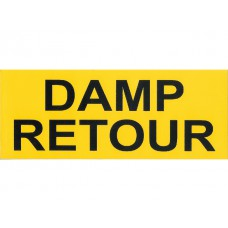 Damp retour sticker