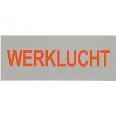 Werklucht, sticker