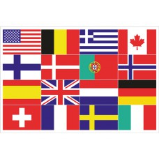 16 National Flags