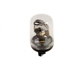Flashing light, White/Clear - pipe mounting (24 mm)